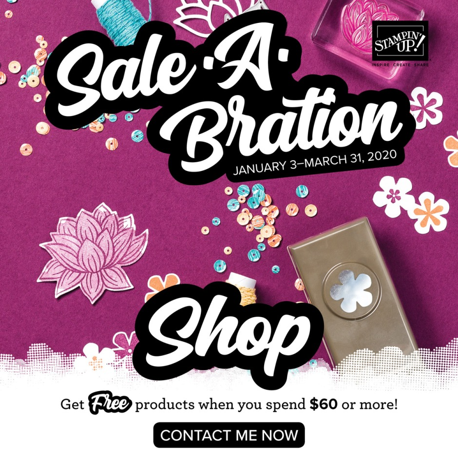 Earn free Stampin' Up! product for a limited time with Sale-A-Bration